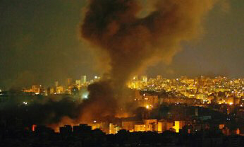Smoke rises over Beirut's southern suburbs