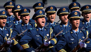 Soldiers in China's People's Liberation Army