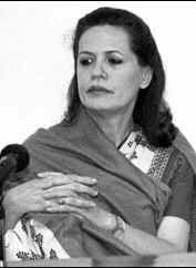Congress Party leader Sonia Gandhi