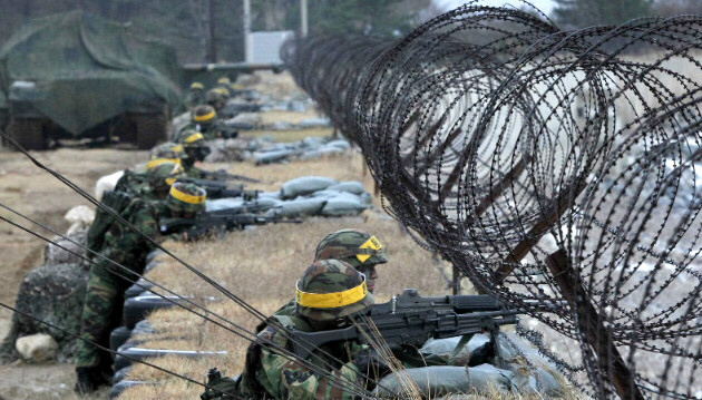 South Korean Marines ready to defend sea border with North
