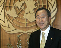 South Korea's Foreign Minister Ban Ki-moon is now UN Secretary-General