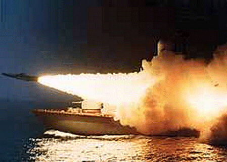High velocity Sunburn missile attack against Nato navy by North Arican ships