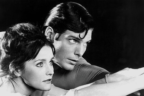Christopher Reeve [R] and Margot Kidder [L] forever immortalised in the 1978 film Superman