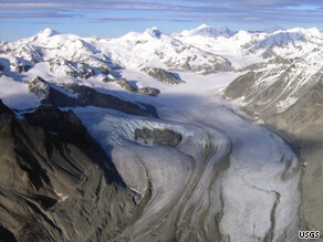 The Gulcana glacier in Alaska