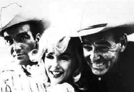 Montgomery Clift, Marilyn Monroe, and Clark Gable on the set of 'The Misfits'
