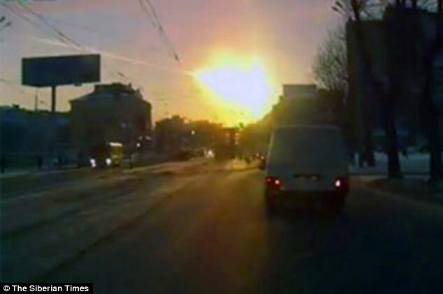 The Urals region was struck by a falling meteorite