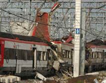 The blasts destroyed several carriages of a train approaching Atocha station