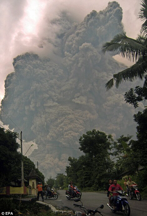 The deadly volcano spewed searing cloud of ash down its slopes