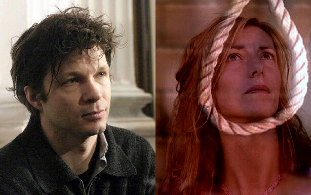 "Rock star Bertrand Cantat (left) may have hanged ex-wife Kristina Rady (right) during a sex game gone wrong. Unfortunately this can not be proven, but the ""suicide"" is very suspicious."