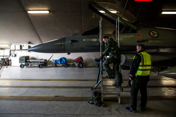 The pilot of a Norwegian Air Force F-16 fighter returns to base after altercation with Russian fighter jets