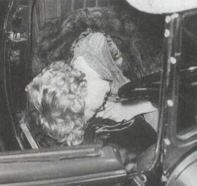 Police photo of Thelma Todd's body