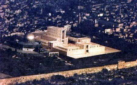 Third Temple and Dome of the Rock side-by-side