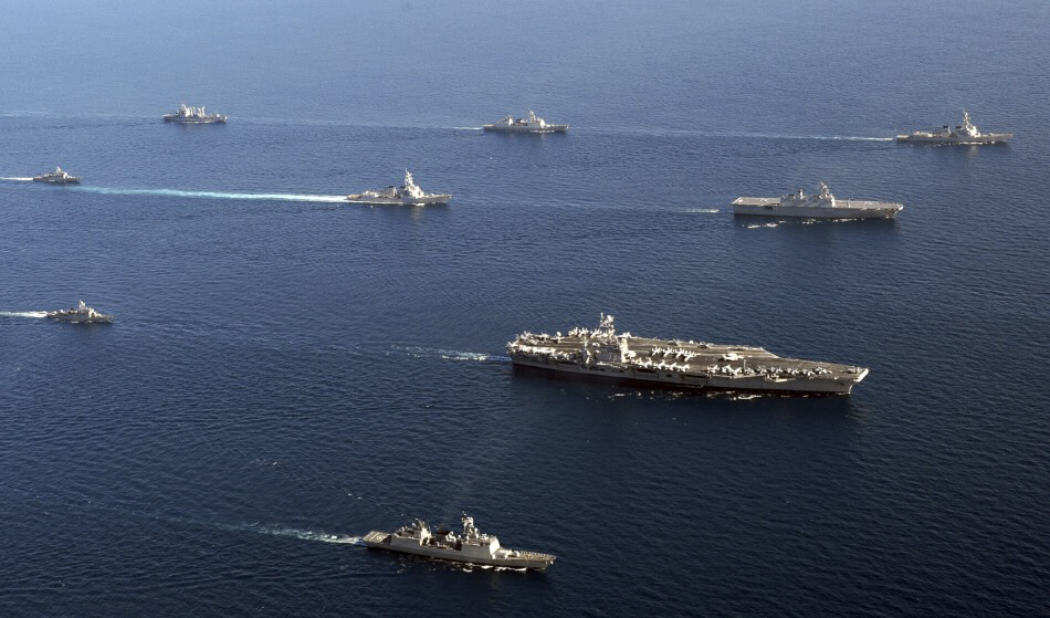 Thirty countries are participating in naval exercise in Persian Gulf [Reuters]
