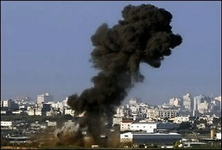 Three Israeli air strikes were carried out in Gaza overnight