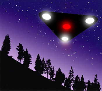 Triangle UFOs move over Indiana and California