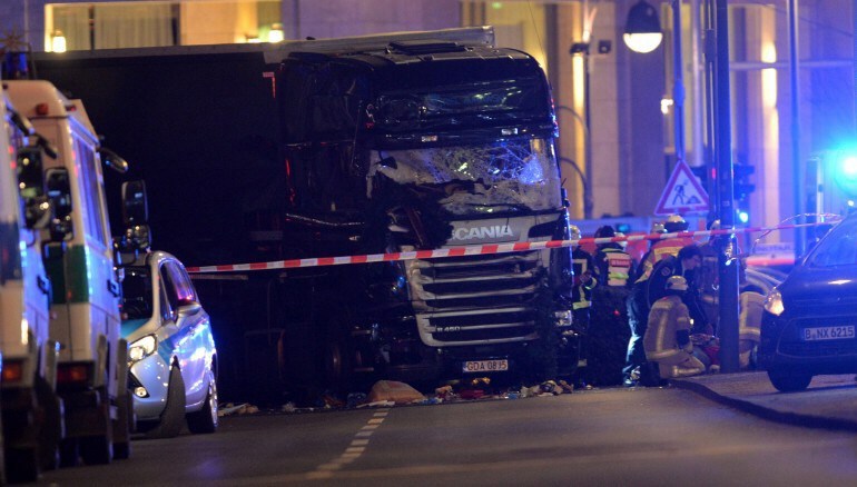 Truck ploughs through Berlin Christmas market