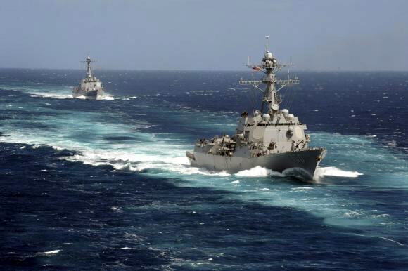 USS Kidd and USS Pinckney sent to search for missing airliner