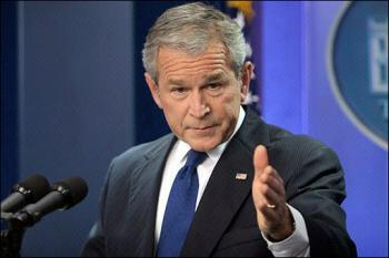 US President George W. Bush speaks on Iran and WW3