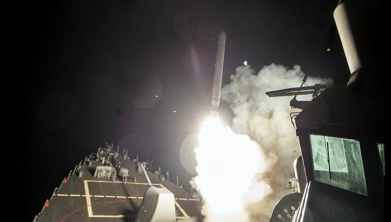 US launches cruise missiles against Assad's forces in Syria
