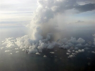 Undersea volcano erupts off coast of Tonga