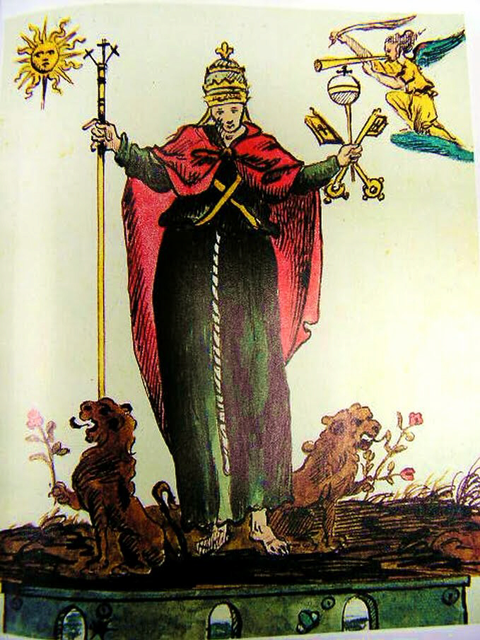 Illustration of Demi-God Pope by 14th century artist Anito Efesio