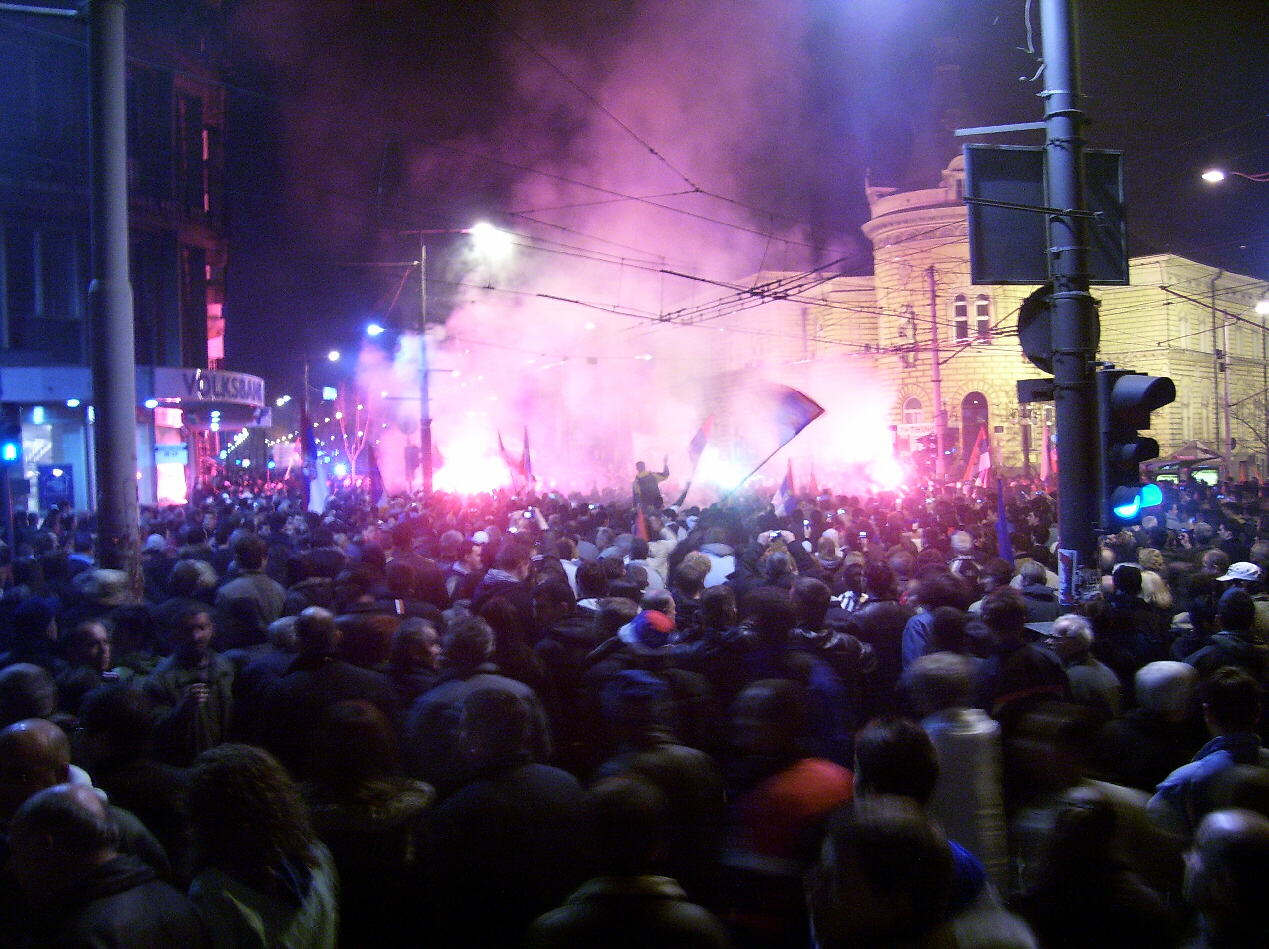 Violent protests in Serbia