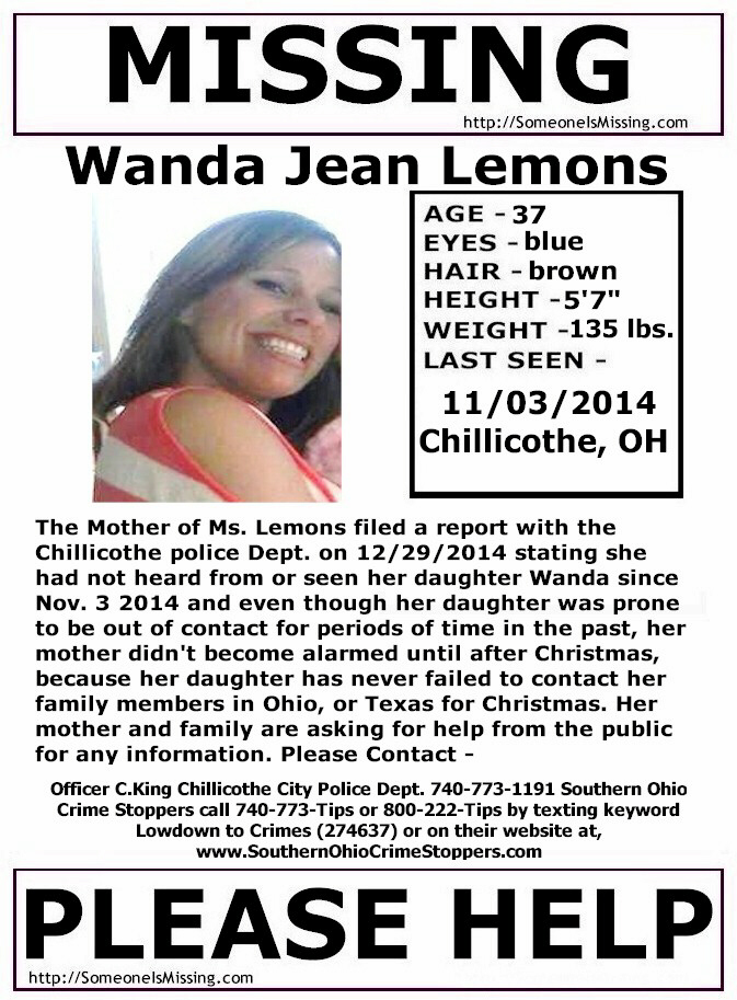 Wanda Jean Lemons, 37, remains missing