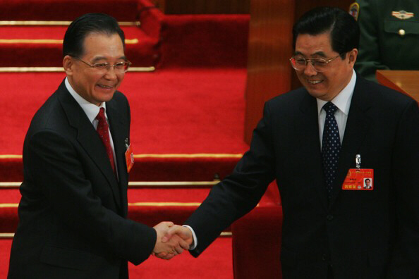 Prime Minister Wen Jiabao and President Hu Jintao.