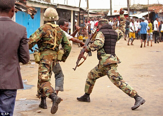 West African countries have required military intevention to keep the peace