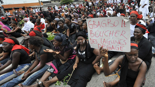 Women demonstrate to condemn killings of seven women in Abidjan