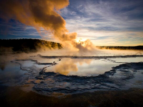 Yellowstone is superheating its surroundings