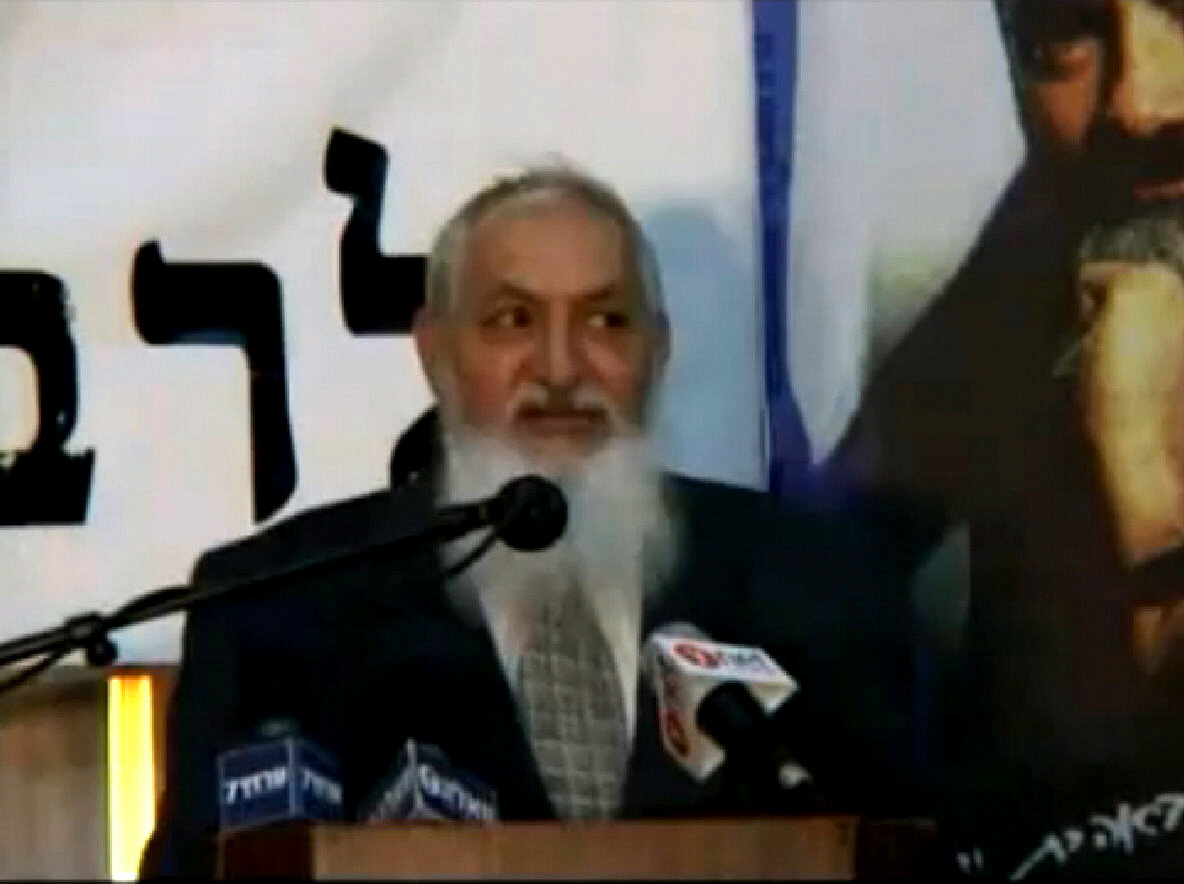 Rabbi Yosef Dayan from a televised speech
