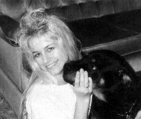 Karla Homolka practises her suffocation technique on pet dog