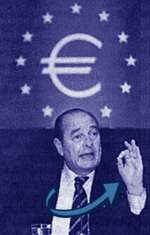 President Chirac and the euro symbol