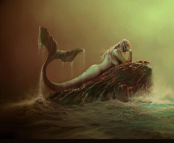 Artist's rendition of a mermaid