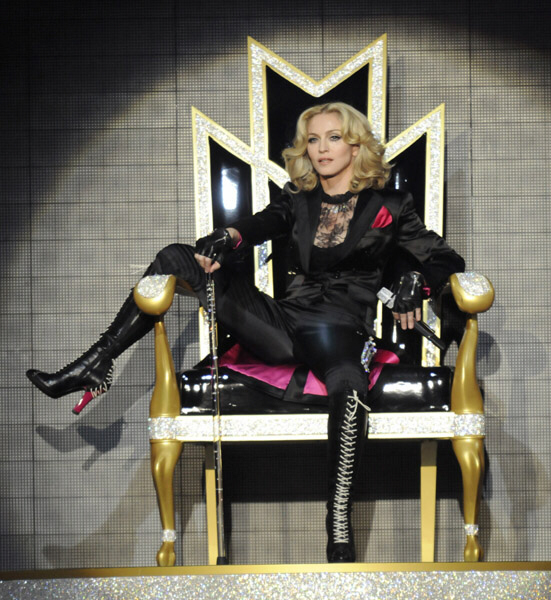 Madonna upon her throne awaiting her crown as the Whore of Babylon?